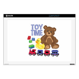 "Toy Time Decal For 17"" Laptop"