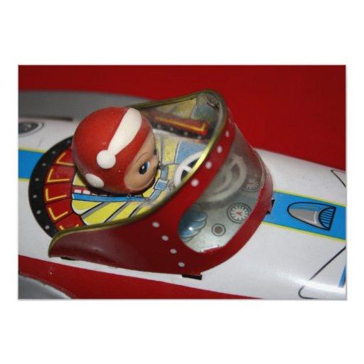 Toy Tin Retro Rocket/Space Ship Invitation