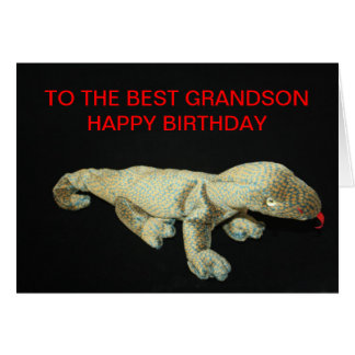 Toy TO THE BEST GRANDSON HAPPY BIRTHDAY Card