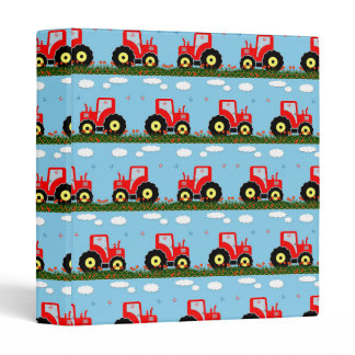 Toy tractor pattern 3 ring binder