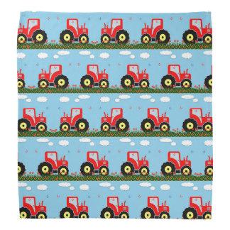 Toy tractor pattern bandana