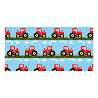 Toy tractor pattern card