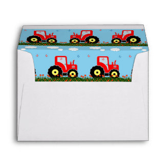 Toy tractor pattern envelope