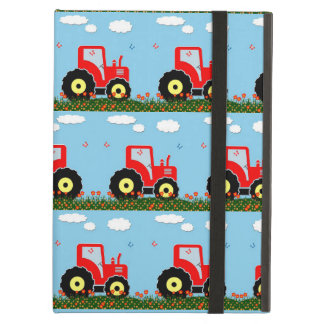 Toy tractor pattern iPad air case