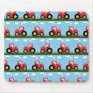 Toy tractor pattern mouse pad