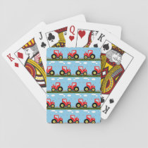 Toy tractor pattern playing cards