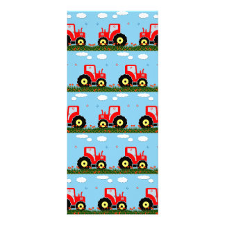 Toy tractor pattern rack card