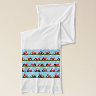 Toy tractor pattern scarf