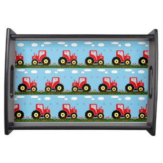 Toy tractor pattern serving tray
