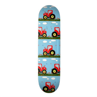 Toy tractor pattern skateboard