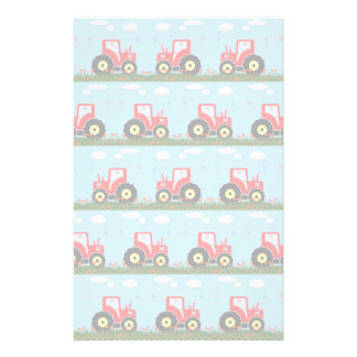 Toy tractor pattern stationery