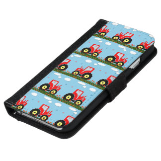 Toy tractor pattern wallet phone case for iPhone 6/6s