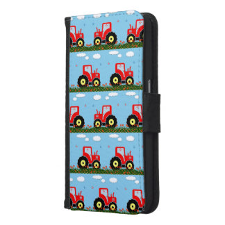 Toy tractor pattern wallet phone case for samsung galaxy s6