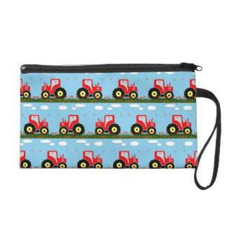Toy tractor pattern wristlet purse