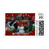 toy tractors at christmas postage