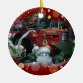 toy tractors for christmas 4 ornaments