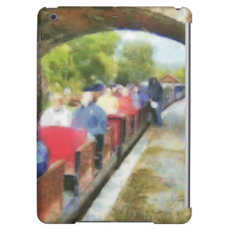 Toy train and adult passengers case for iPad air