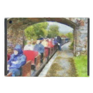 Toy train and adult passengers case for iPad mini