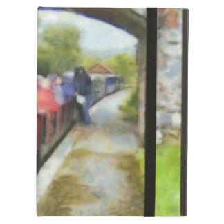 Toy train and adult passengers iPad air cases