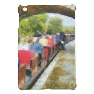 Toy train and adult passengers iPad mini case