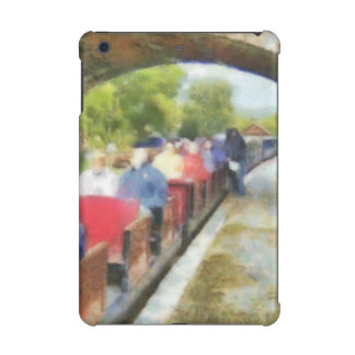 Toy train and adult passengers iPad mini cover
