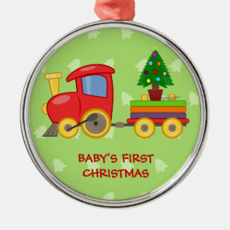 Toy Train, Baby's First Christmas Christmas Tree Ornaments