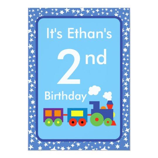 Toy Train Birthday Card