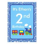 Toy Train Birthday Invitations