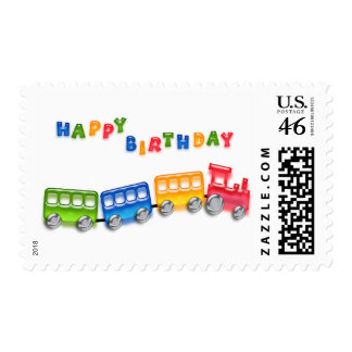 Toy Train Birthday Stamps