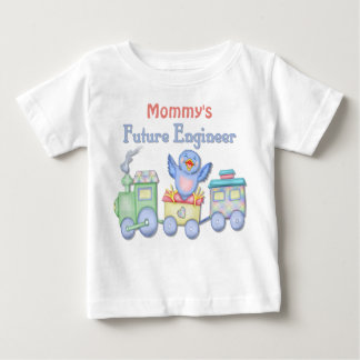 Toy Train Bluebird Future Engineer Baby - Mommy's Baby T-Shirt