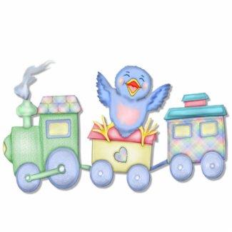 Toy Train Bluebird photosculpture