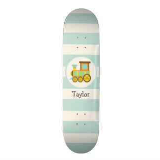 Toy Train; Brown, Orange, Yellow, Teal, Blue Skateboard Deck