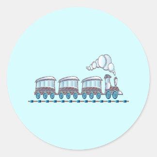 Toy Train Classic Round Sticker