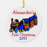 Toy Train-First Christmas-Personalize It Christmas Ornament