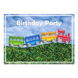 Toy Train in the Countryside Birthday Invitation