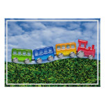 Toy Train in the Countryside Poster