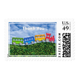 Toy Train in the Countryside Thanks Postage Stamps