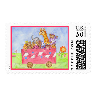 Toy Train Kid's Postage Stamp
