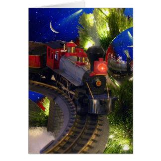 Toy Train Magic Greeting Card