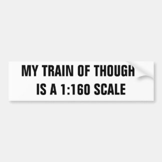 Toy train of thought bumper sticker