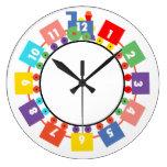 Toy Train Round Clock
