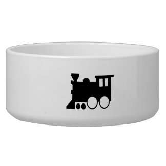Toy Train Silhouette Dog Food Bowl