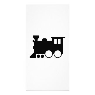 Toy Train Silhouette Photo Greeting Card