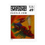 Toy Train STAMPS HOLIDAY Railroad Locomotive & car