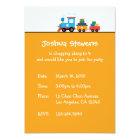 Toy Train Transport Birthday Theme Invitation Card