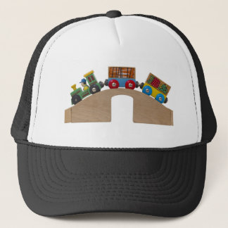 toy train trucker hat