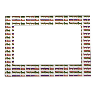 Toy Trains Magnetic Picture Frame