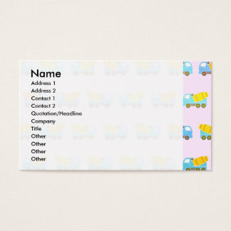 Toy truck pattern business card