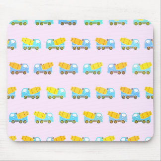 Toy truck pattern mouse pad