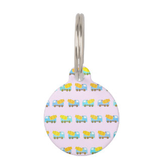 Toy truck pattern pet tag